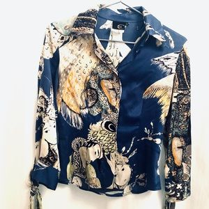 Roberto Cavali silk blouse
